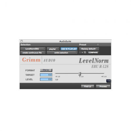 LevelNorm – EBU R128 and ATSC A/85 compliant Loudness Software